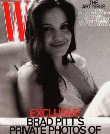 Angelina Jolie allatta sulla copertina di W