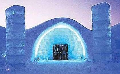Hotel di ghiaccio in Europa e in Canada