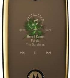 Regali Natale 2008: Motorola Pebl U9 Gold