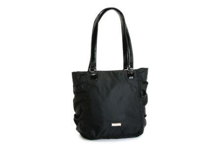 carpisa shopping in tessuto di nylon nero