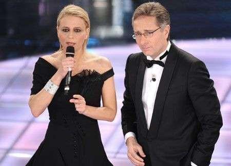 Sanremo 2009: Maria De Filippi e Antonella Clerici