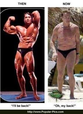 Arnold Schwarzenegger si vergogna della sua età
