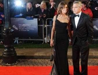 George Clooney ed Elisabetta Canalis sul red carpet a Londra