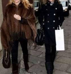 Elisabetta Canalis fa shopping con Federica Fontana