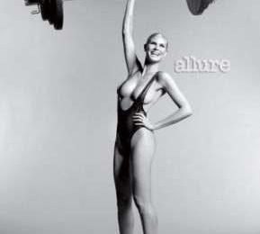 Heidi Klum perfetta dopo il parto, si spoglia per Allure