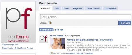Facebook: Pour Femme a quota 3000 fan