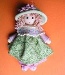 Decorazioni in Pasta di sale: la bambola