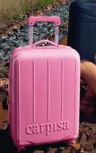carpisa valigia rosa