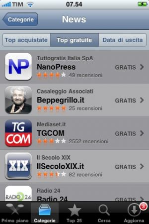 App Nanopress per Iphone: 50mila download in 15 giorni