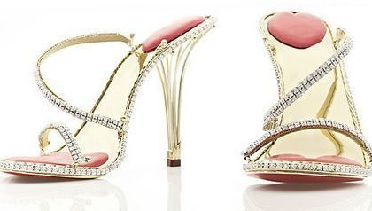 Scarpe di lusso: Sandali in oro platino e diamanti