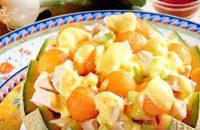 Ricette estive: insalata di pollo e melone