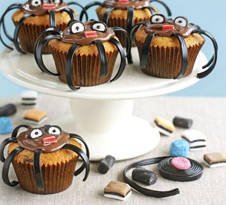 halloween muffin a ragno