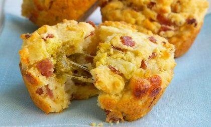 Ricette Capodanno: muffin al salame