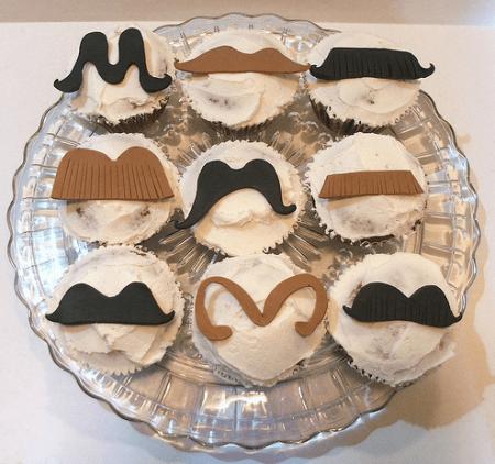 Cupcakes con i baffi