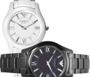 Giorgio Armani: gli orologi black and white in ceramica