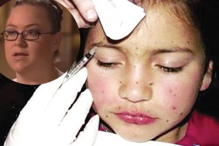 Aveva dichiarato di usare il botox sulla figlia di 8 anni, ma era una bufala