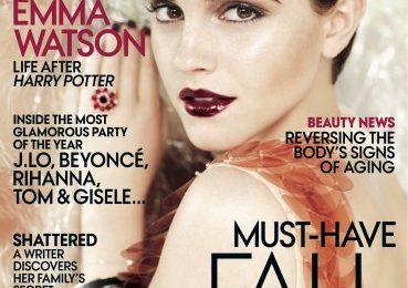 Emma Watson sensuale sulla copertina di Vogue USA: Hermione è cresciuta!