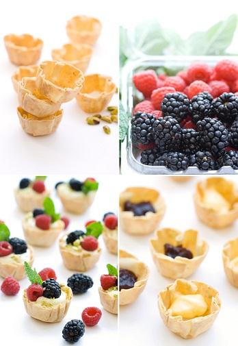 cestini pasta fillo e frutta