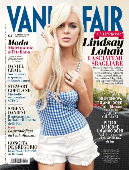 Linsday Lohan si confessa dalle pagine di Vanity Fair