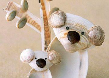 Come fare dei simpatici koala con le conchiglie
