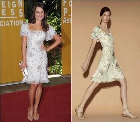 Lea Michele indossa un bellissimo abito Valentino Resort 2012: che chic!