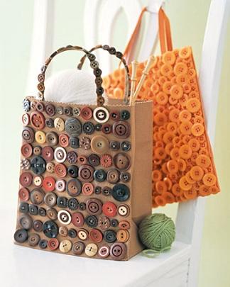 Come fare una shopper tutta coperta di bottoni