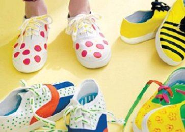 Come decorare le sneakers con i colori per stoffa