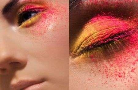 Look stravaganti e glamour con il make up di Viktoria Stutz