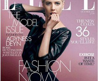 La ribelle top model Agyness Deyn incanta le lettrici di Elle nel numero di ottobre 2011