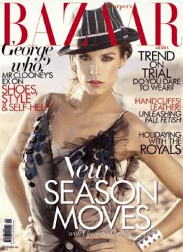 Elisabetta Canalis impegnatissima con le prove di ballo… e intanto Harper's Bazaar la mette in copertina!