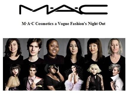 Per la Vogue Fashion's night out di Roma, appuntamento da MAC con un trucco personalizzato!