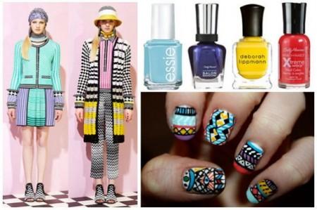 La nail art ispirata alla moda di Missoni, trendy ma complicata!
