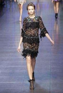 La sfilata Dolce & Gabbana primavera estate 2012 a Milano Moda Donna