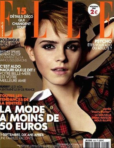 Emma Watson bellissima e sbarazzina sulla cover di Elle Francia