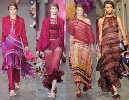 Voglio vivere in un mondo pieni di colori, la sfilata Missoni P/E 2012 al Milano Moda Donna