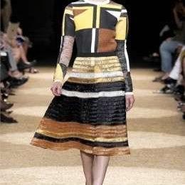 Geometria e gusto retrò per la collezione P/E 2012 di Proenza Schouler alla New York Fashion week