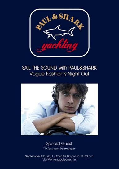 Riccardo Scamarcio guest star da Paul & Shark per la Vogue Fashion's night out 2011!