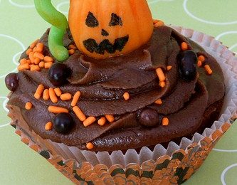 Muffin al cioccolato di Halloween