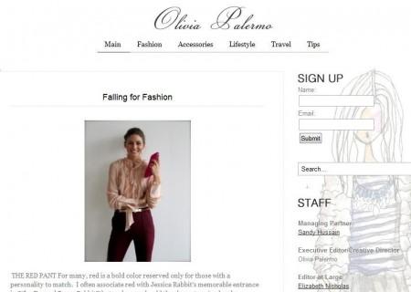 Pazze per lo stile di Olivia Palermo? La star finalmente apre il suo blog!