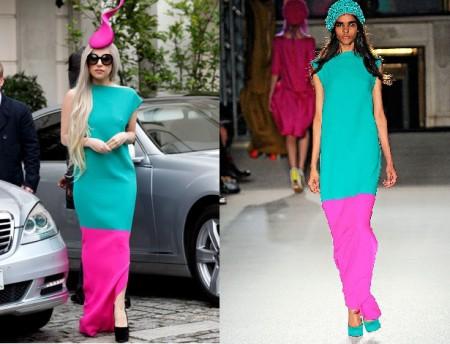 Lady Gaga sfoggia un look coloratissimo firmato Roksanda Ilincic