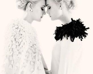 Dakota e Elle Fanning posano insieme per W di dicembre 2011