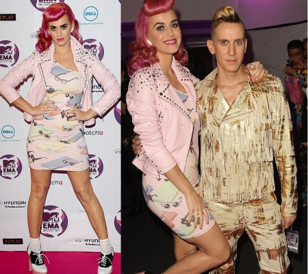 Katy Perry con un look davvero originale firmato Jeremy Scott agli MTV Music Awards 2011: promossa o bocciata?