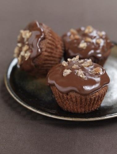 Muffin golosi al cioccolato con le castagne