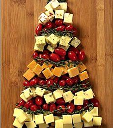 Ricette antipasti di Natale, albero di formaggi