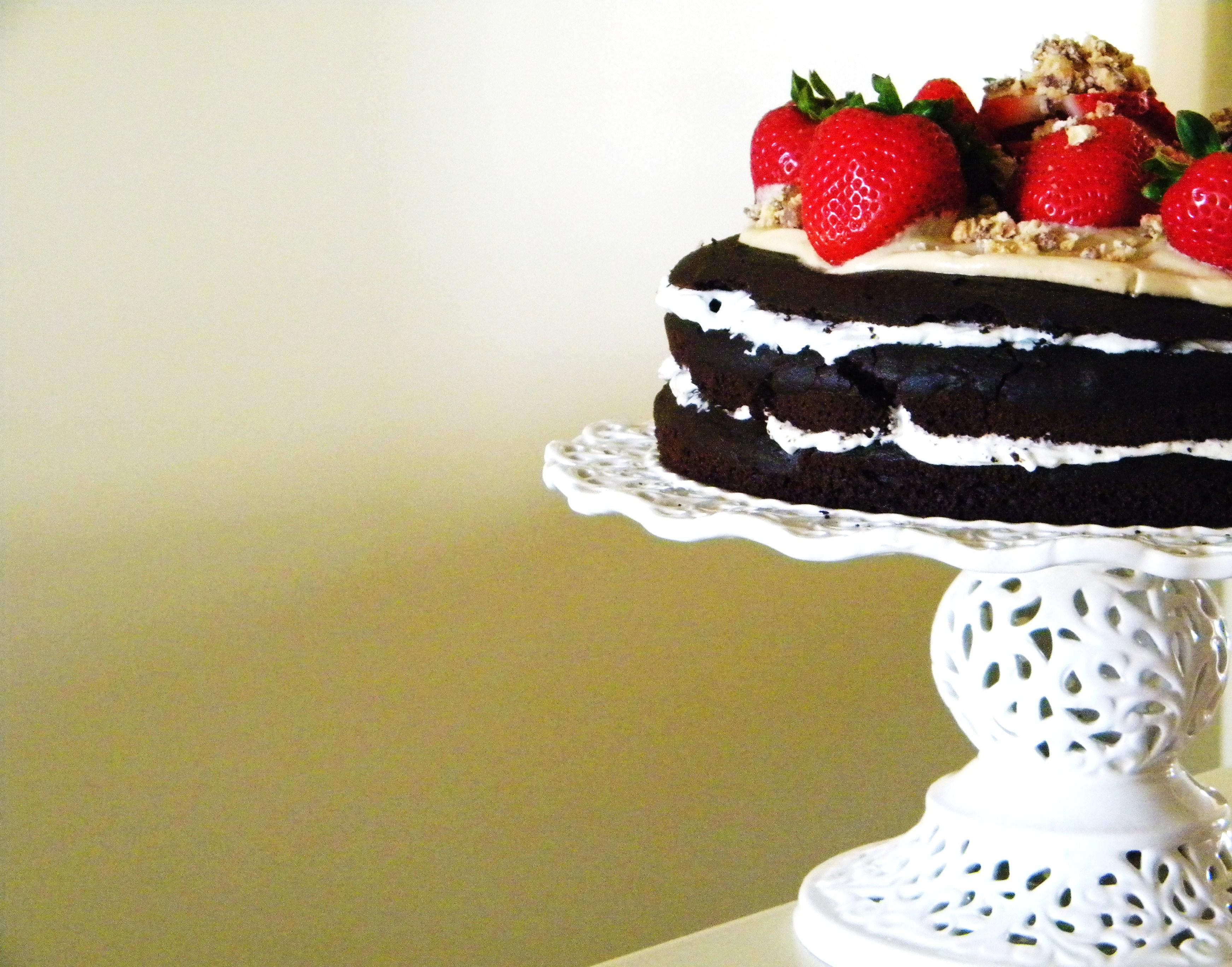 dolci di Natale fragole e cioccolato torta chic