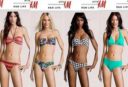Troppo photoshop per le modelle H&M che hanno corpi identici