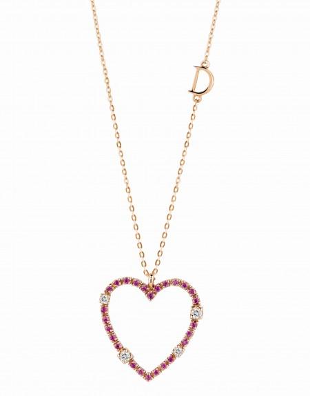 Gioielli Damiani per San Valentino: il pendente a cuore in oro con diamanti o zaffiri