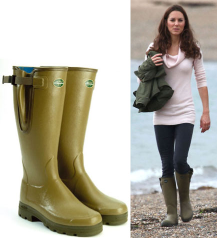 Kate Middleton indossa stivali francesi e scoppia la polemica in UK, prima caduta di stile?