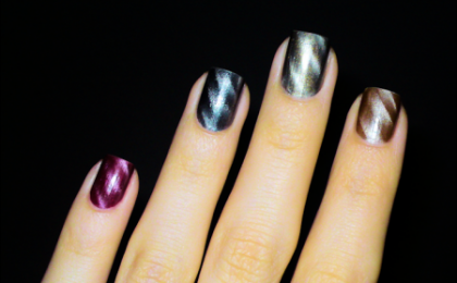 Gli smalti magnetici sono l'ultima tendenza della nail-art, vediamo come applicarli