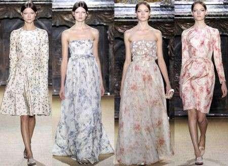 Sfilate haute couture P/E 2012: Valentino fa sbocciare i fiori di campo